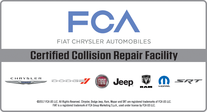 FCA Certified Collision Repair Facility in Millvale, PA